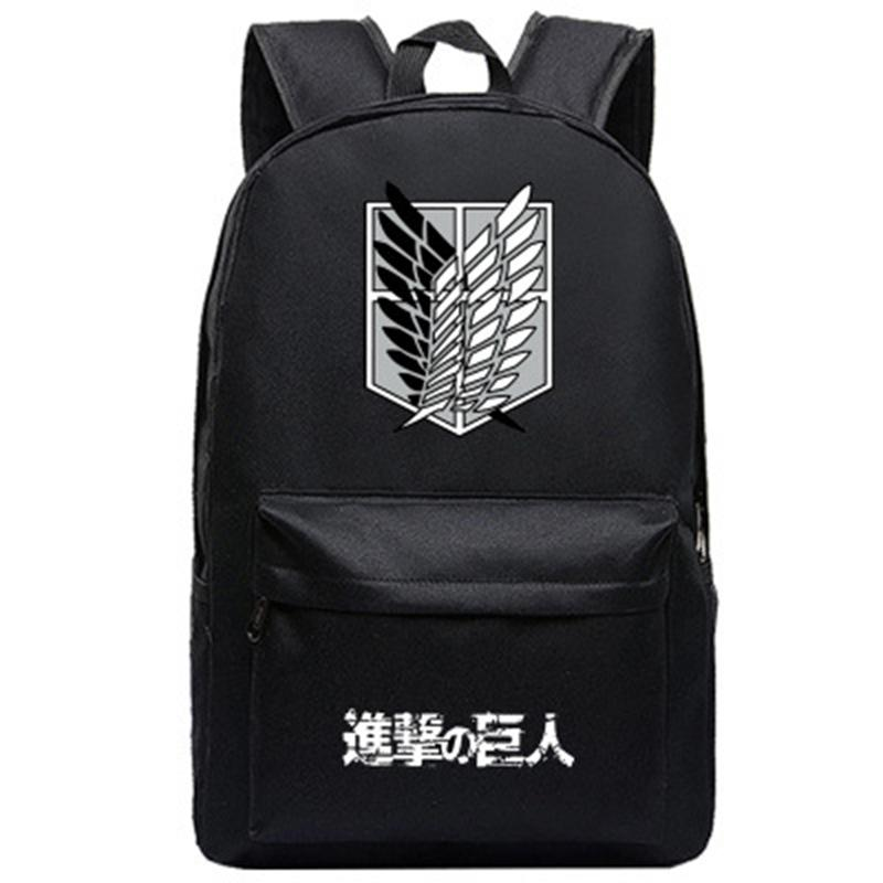 Compre Anime Shingeki No Kyojin Attack On Titan Mochila Mochilas Escolares  Para Niños 5da0c66fb03c