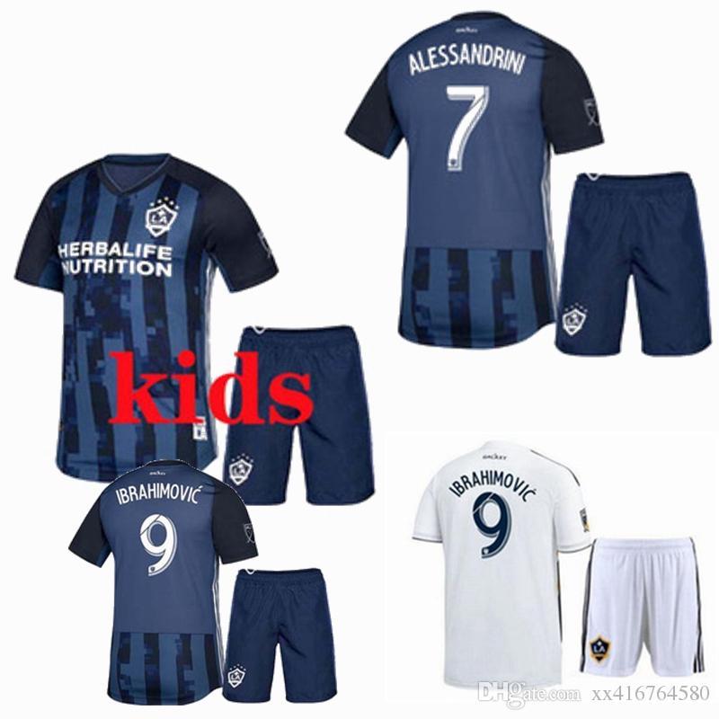 hot sale online ed1b6 4c8f6 2018 2019 la galaxy kids Soccer jersey IBRAHIMOVIC football shirt Los  Angeles GIOVANI KAMARA GERRARD home away Football boys shirt