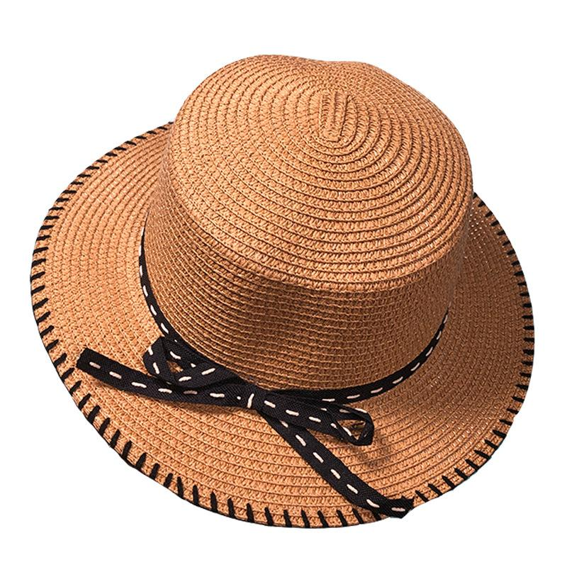 86237b9fbac 2019 Spring And Summer New Korean Sunscreen Visor  Side Seams With A Little Straw  Hat  Ladies Outdoor Sports Beach Hat From Eslite 1982