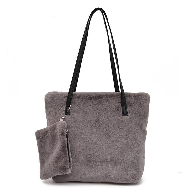 9ede0e6c839e Good Quality 2019designer Women Faux Fur Handbags Large Shoulder Bags  Female Tote Shopping Bags High Quality Bolsa Feminina 2 BagsDuffle Bags  Messenger Bags ...