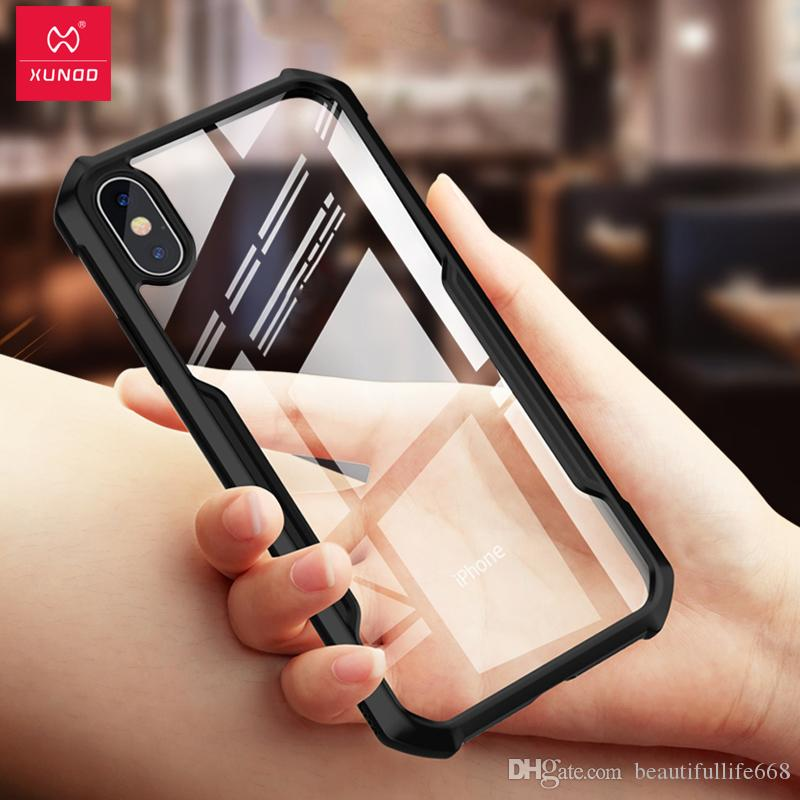 official photos 03d30 1be4a Hot Sale Xundd Luxury Transparent Silicone TPU Case For iPhone X XS Max Xr  7 8 Plus Shockproof 360 Full Protective Cover Cases