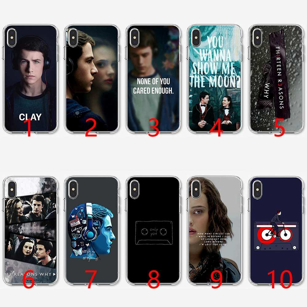 Thirteen 13 Reasons Why Quotes Soft Silicone Tpu Phone Case For