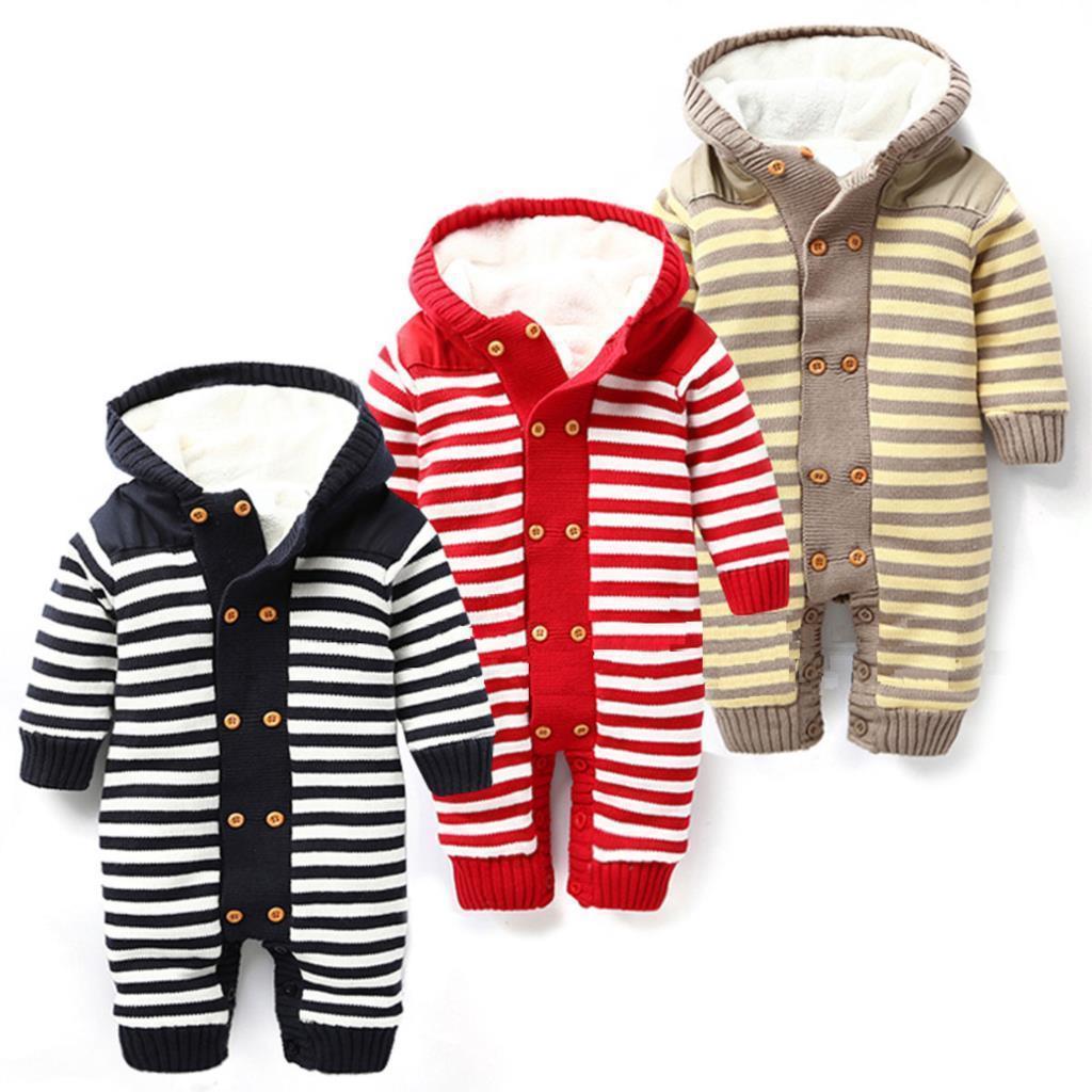 b069d9588f36 Winter Baby Clothing Plus Velvet Warm Newborn Baby Rompers Brand ...