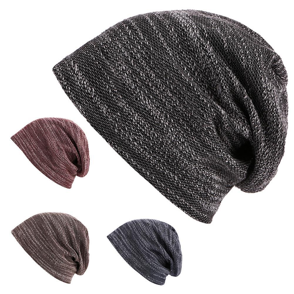 479a374aacc Casual Outdoor Men Women Solid Color Baggy Beanie Skull Cap Soft ...