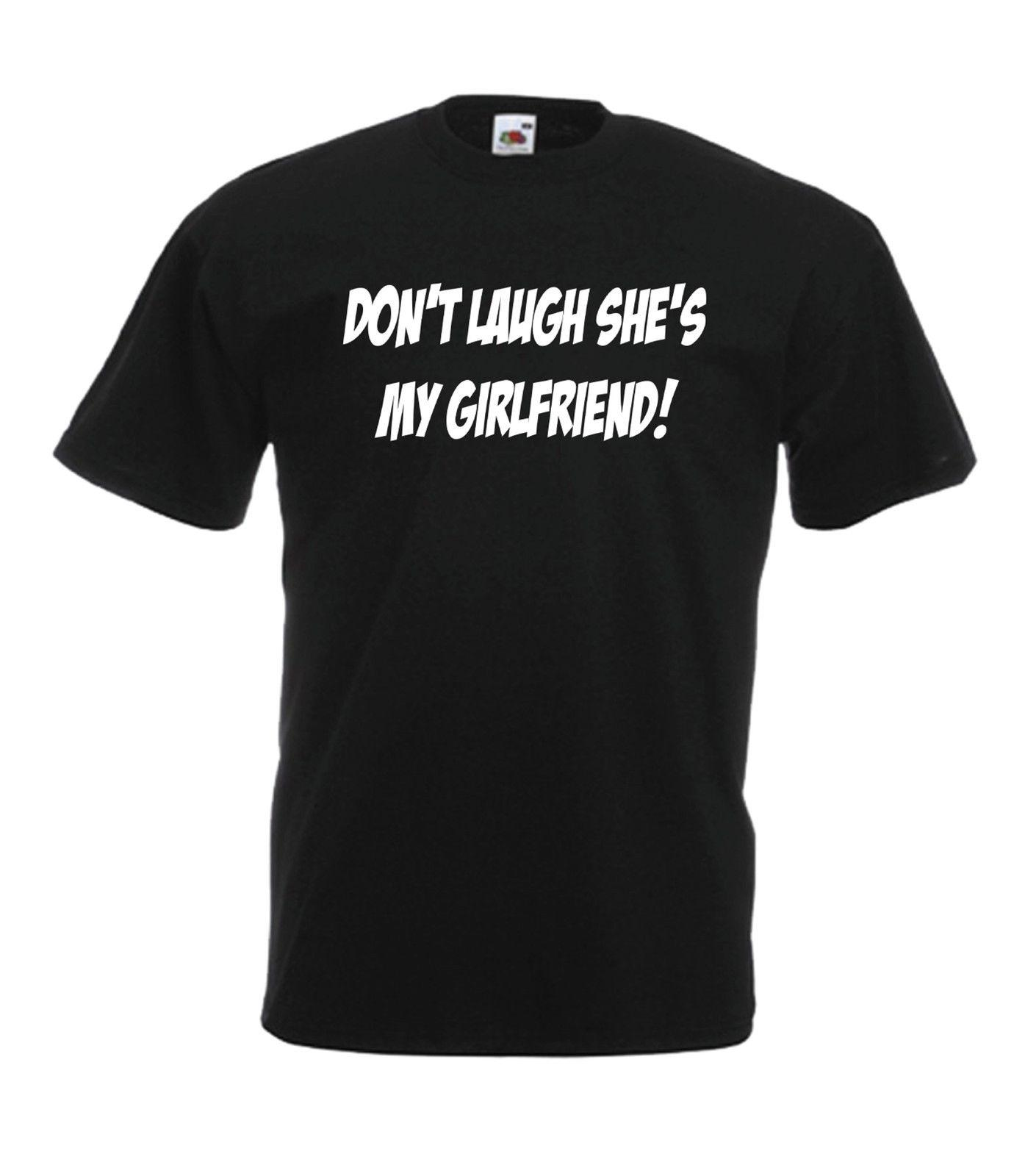 SHES MY GIRLFRIEND Funny Wedding Xmas Birthday Gift Ideas Mens Womens T SHIRT Short Sleeve Plus Size Shirt Awesome Design And Tshirt From