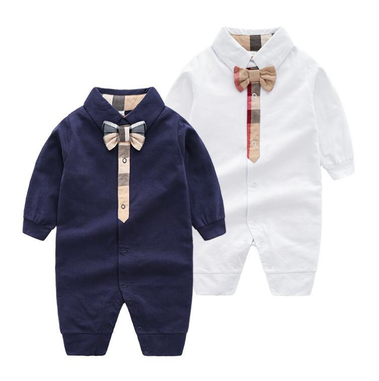 4d404723e 2019 Kids Baby Clothing Newborn Baby Rompers Spring Autumn Long Sleeve Baby  Boys Girls Romper Infant Jumpsuit Solid Color Lapel From Zuomeng3821, ...