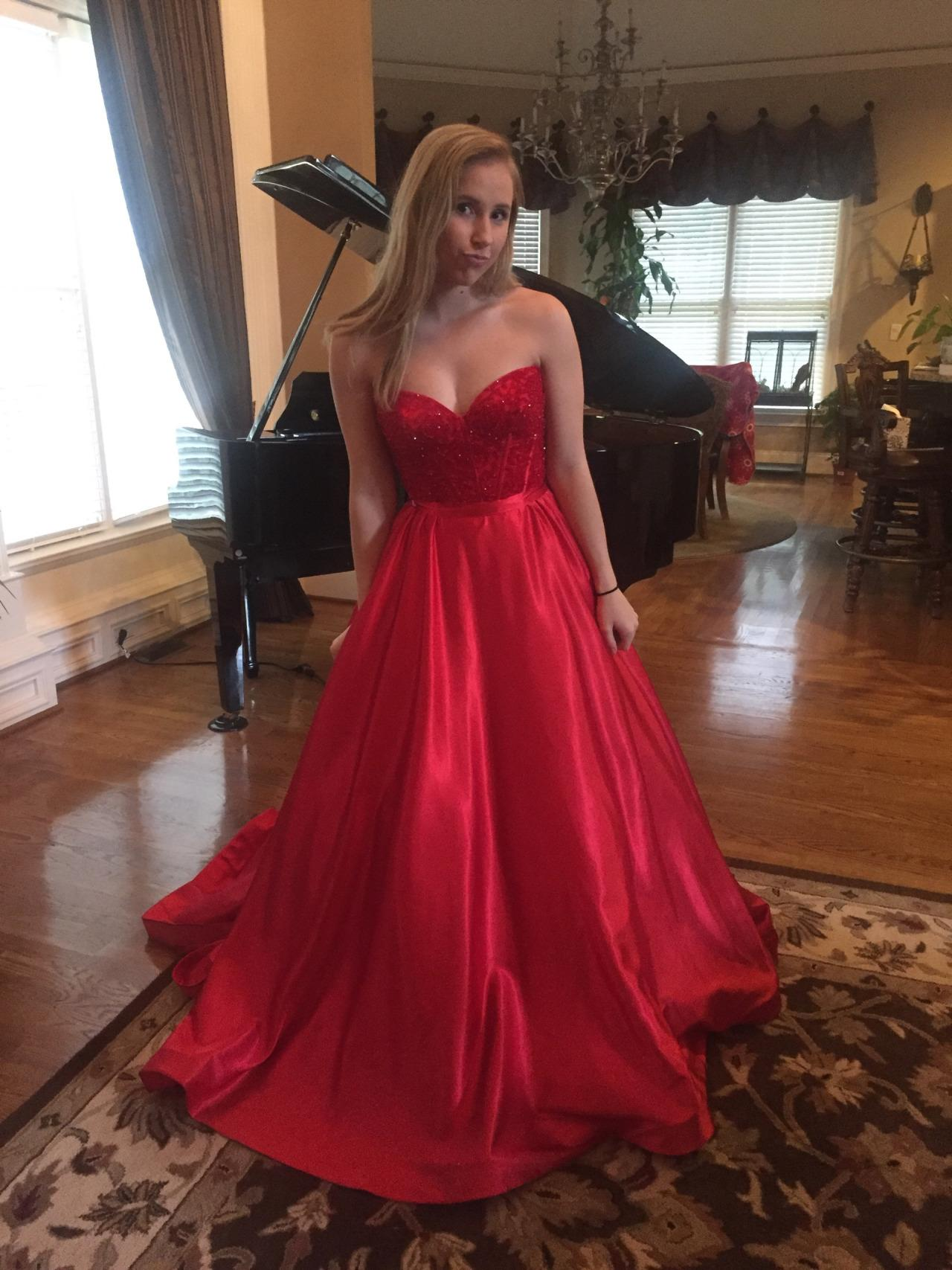 Red Lace A Line Pageant Evening Dresses Women's Sweetheart Bridal Gown Special Occasion Prom Bridesmaid Party Dress 17LF413