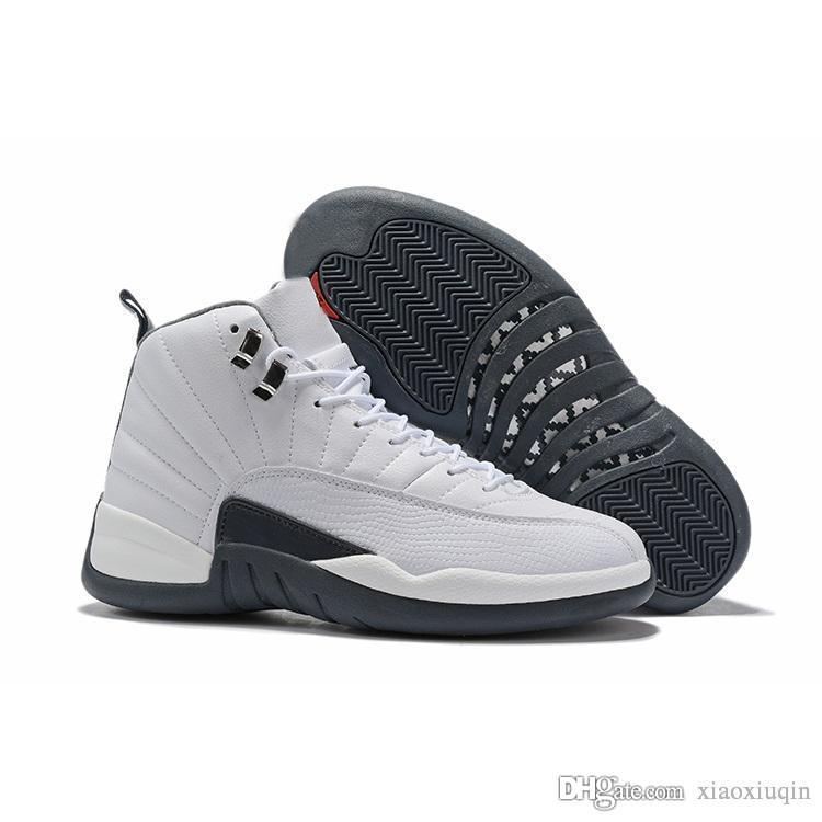 huge discount 5f219 24bb8 Cheap mens aj 12s basketball shoes retro White Grey Reverse Taxi Black Gold  red high top kids air flight j12 jumpman sneakers boots with box