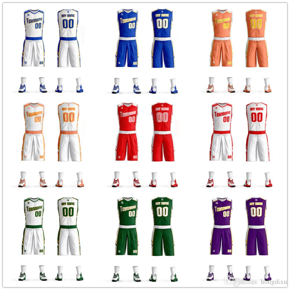 a95ab9f6b12a 2018New High-end Quality Men Kids Boys Basketball Jerseys Suit ...