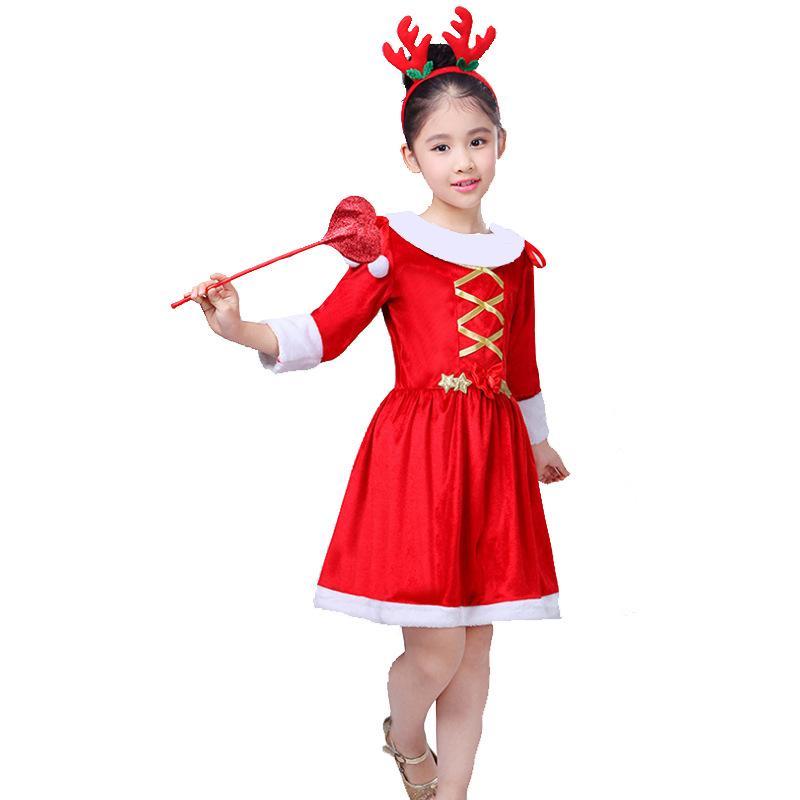 51c564974 Compre Cosplay De Disfraces De Navidad Para Niños Vestido De Niñas Conjunto  Fiesta De Halloween Nuevo Vestido De Princesa Niña Navidad A  31.87 Del  Hognyeni ...