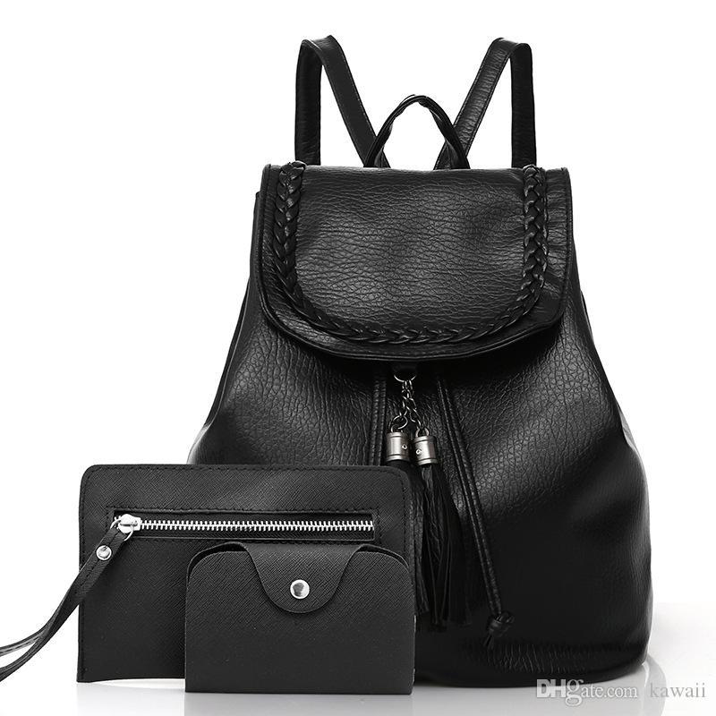 0fa3d1e313968 Großhandel 3 Stücke Mode Frauen Brieftasche Messenger Bags Mädchen ...