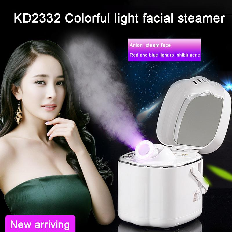 Portable Home use beauty salon infrared led therapy Deep Cleaning facial steamer vaporizer sauna spa hot thermal spray steamer