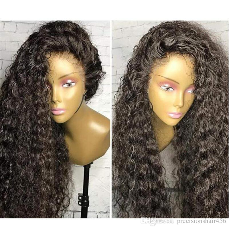 New Trending Pre Plucked Full Lace Human Hair Wigs Water Wave Lace Front No Tangle For Black Woman
