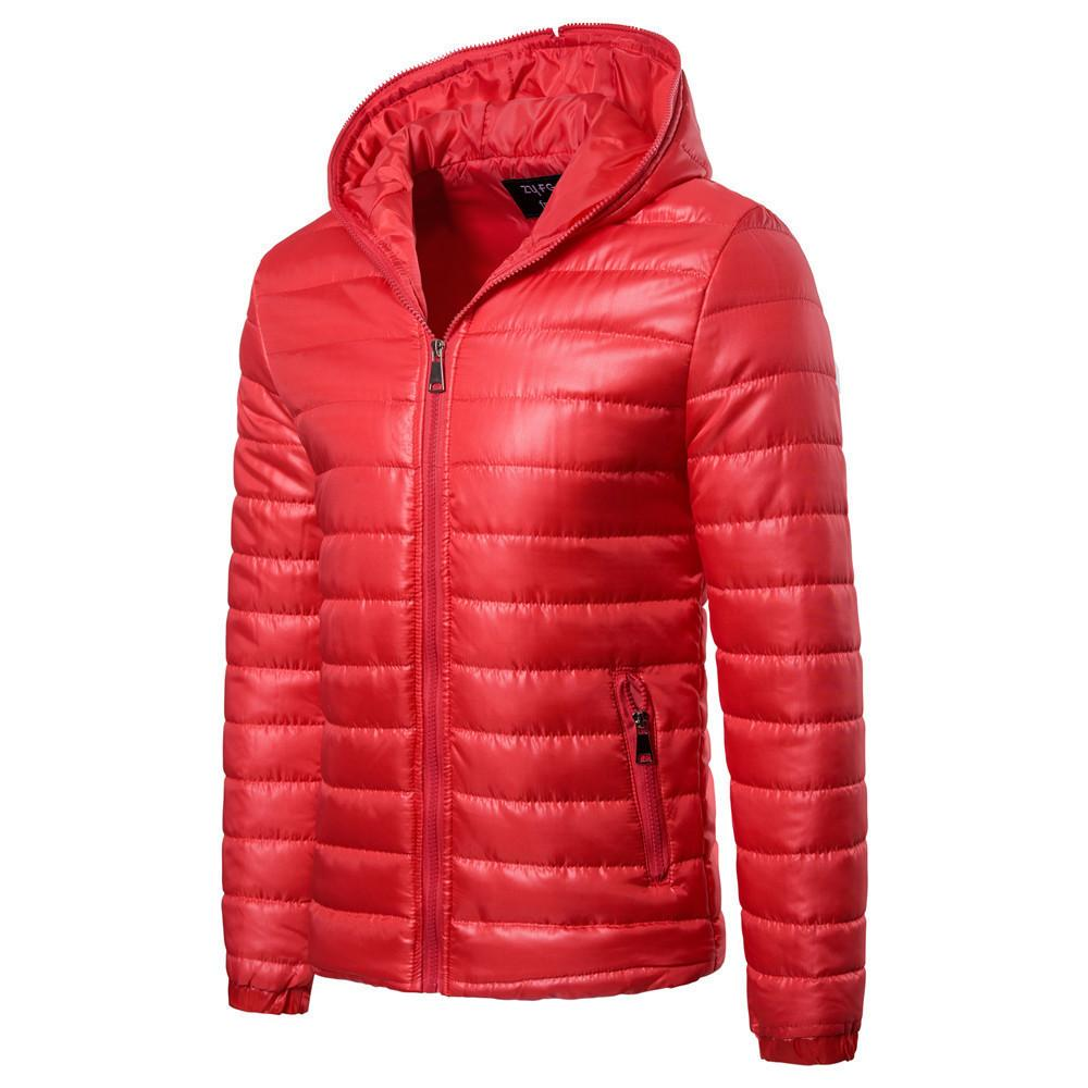 4476e82edc4 2019 New Basic Winter Jacket Men Warm Cotton Down Padded Coat Parkas Hooded  Solid Color Harajuku Men's Quilted Outerwear
