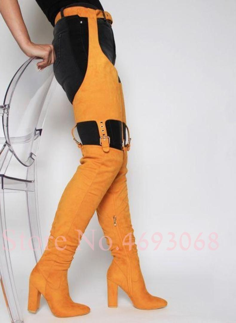 d521a7ac7a7 Sexy High Waist Boots Cutout Crotch Thigh High Boots Suede Womens Fetish  Shoes Hottest Selling Of 2019 Pants Side Zipper Combat Boots For Women Sexy  Shoes ...