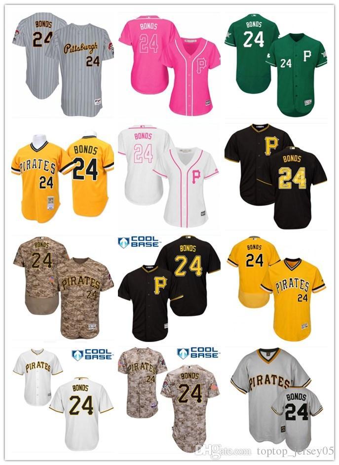 super popular 14647 debfd 2018 top Pittsburgh Pirates Jerseys #24 Barry Bonds Jerseys  men#WOMEN#YOUTH#Men s Baseball Jersey Majestic Stitched Professional  sportswear
