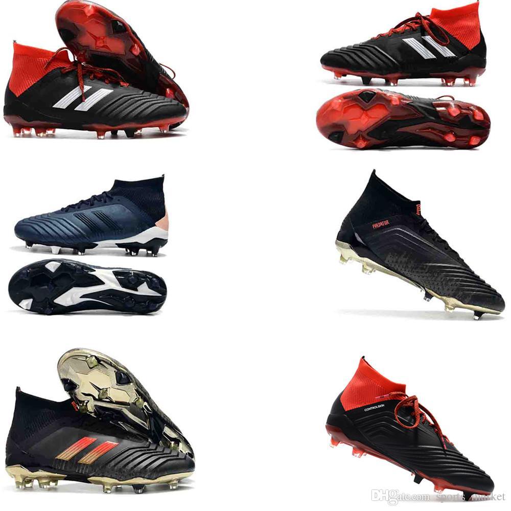 05e55b35c26 2019 Top Quality Mens Football Boots Predator 18.1 FG Scarpe Da Calcio  Designer PureControl Purechaos Cristiano Ronaldo Men Outdoor Soccer Cleats  From ...