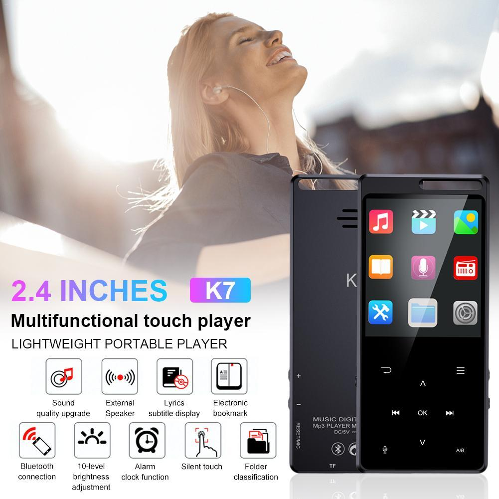 MP3 MP4 Music Player Bluetooth External Touch Screen Music Player with 2.4 Inch Screen and 800mAh Battery Capacity