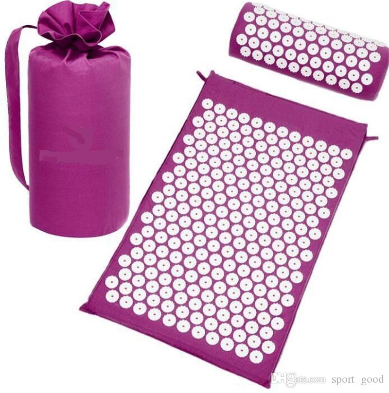 Hot Sale Yoga Mat Massage cushion Acupressure Mat Relieve Stress Pain Massager Acupuncture Spike Yoga pin pad