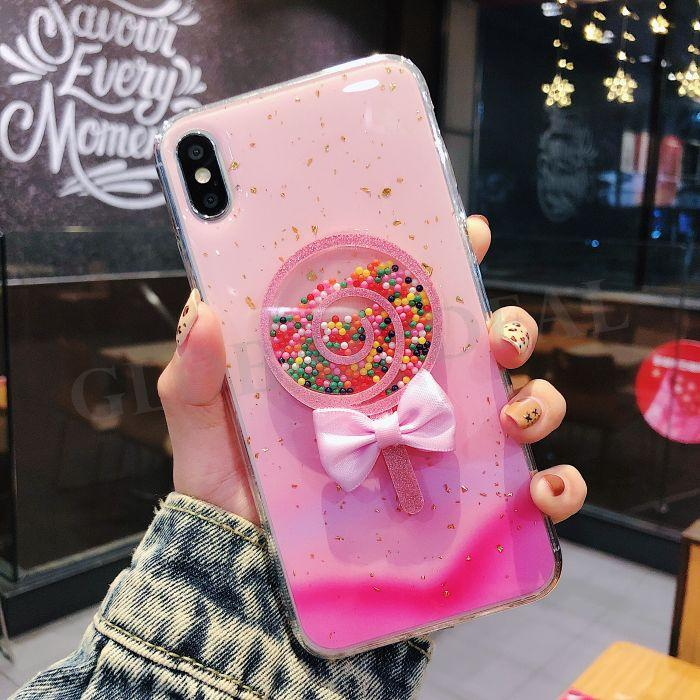 Fashion Sexy Girl Lady Soft TPU Case For Iphone XS X 8 7 6 plus Bling Glitter Luxury Clear Fashion Skin Cover