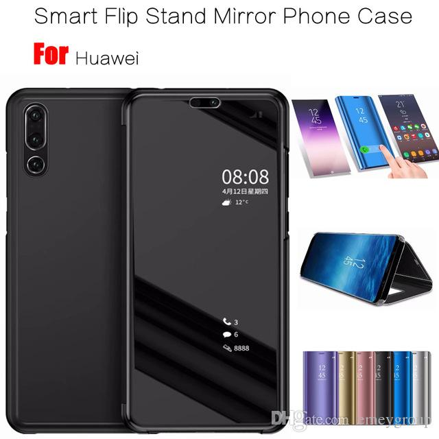 timeless design 5c51a dc299 Smart Clear View Mirror Case For Huawei P8 P9 P10 P20 Lite 2017 Plus For  Mate 10 20 lite pro honor 10 9 8 nova 3 3i flip Case
