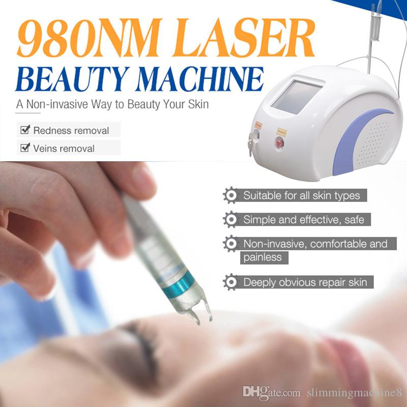 machine de retrait de laser vasculaire de laser de diode du laser 980 nm de cerise des taches de vieillesse et des taches du soleil se retirent pour l'usage de salon de maison