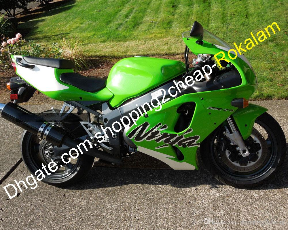 ZX 7R ZX-7R 1996-2003 Green White Black Cowling For Kawasaki ZX7R 96 97 98 99 00 01 02 03 ABS Fairing Set