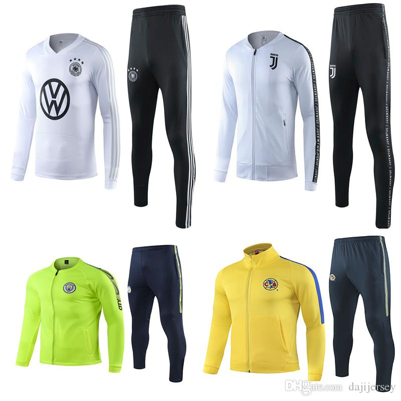 new styles feb42 cca97 New Juventus tracksuit 2019 2020 Mexico club America soccer jogging jacket  MBAPPE POGBA 19 20 Manchester football training suit
