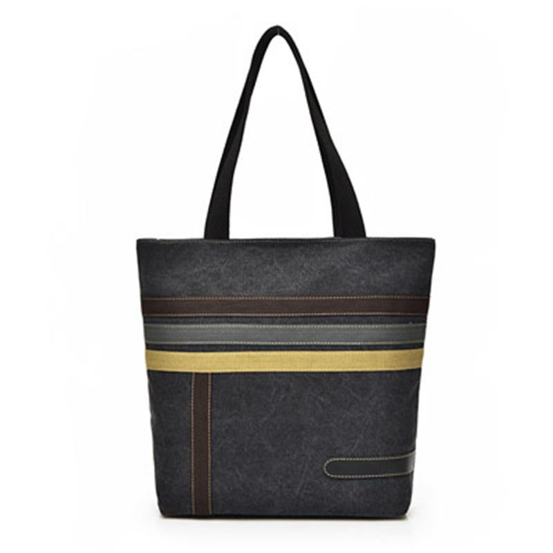5bee9e780d2d Fashion Canvas Bag Brand Women Handbags Stripe Casual Women Shoulder Bags  Female Messenger Bag Ladies 2019 Spring Purse Pouch Best Messenger Bags  Handbags ...