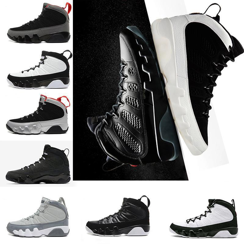 2018 9 9s men basketball shoes LA bred CITY OF FLIGHT OG Anthracite The Spirit Tour Yellow PE Trainers sports Sneaker