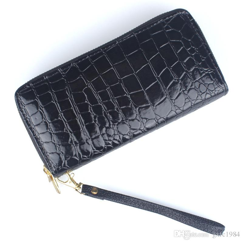 Women's wallet stone pattern ladies long double pull wallet clutch bag mobile phone bag free shipping