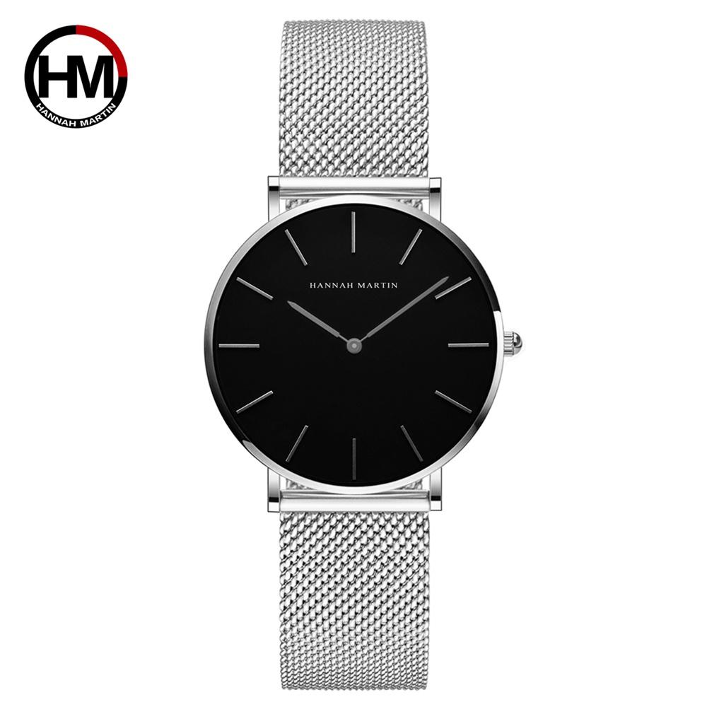 ef79d25fa Top Brand Luxury HM Stainless Steel Mesh Wristwatch Japan Quartz ...
