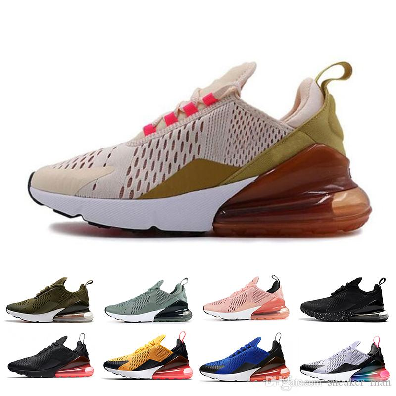 ed095512666 Cheap Hot Sale 270 Running Shoes Champagne Rose Gold BARELY ROSE Hot Punch  Women Mens Designer Sneakers Trainers Sports Shoes US 5.5-11