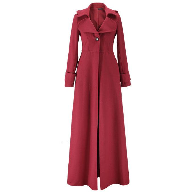 Wool & Blends Women Jacket Winter Long 2018 Retro Lace Trench Parka Plus Size Ladies Chamarra Cazadora Mujer Coat For Girls 18oct23 Women's Clothing