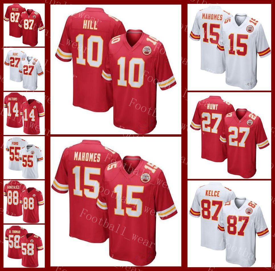 promo code c5855 d9e14 Chiefs Jersey Kansas City 10 Tyreek Hill 88 Tony Gonzalez 95 Chris Jones 29  Eric Berry 22 Juan Thornhill 58 Derrick Thomas Football Jerseys