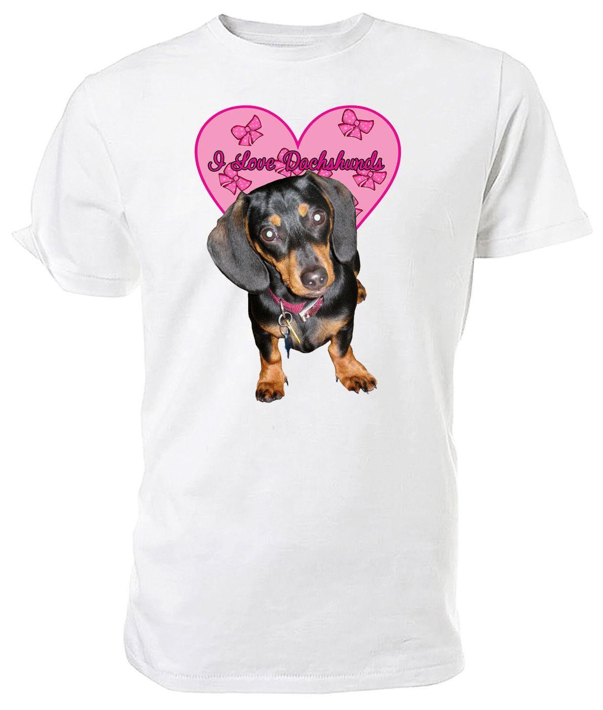 b2b5f2155 Dachshund Dog, I Love Dachshunds T Shirt Choice Of Size & Colours! Novelty T  Shirt Funny Printed T Shirts From Jie71, $14.67| DHgate.Com
