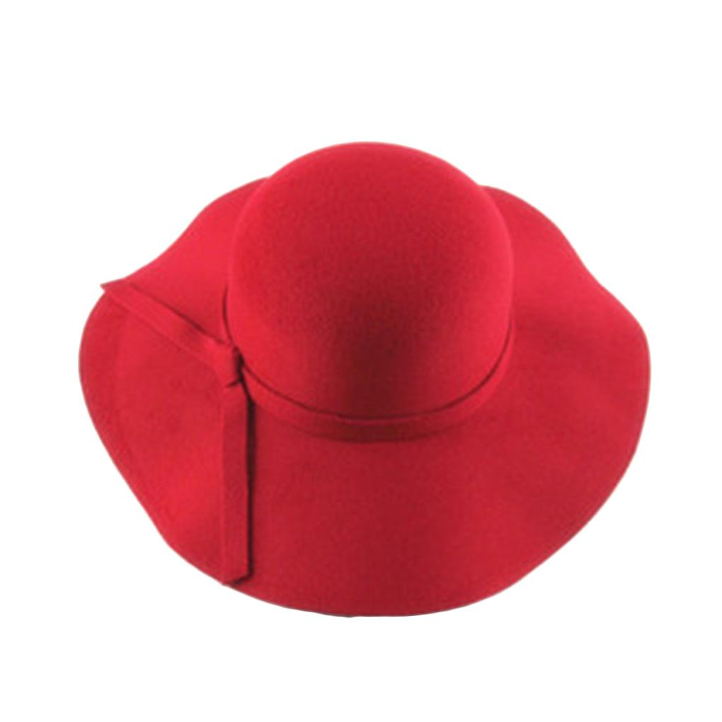 09d96a22e Girls Vintage Retro Kids Child Hats Polyester Felt Crushable Wide Brim  Cloche Floppy Hat Summer Sun Beach Cap D19011106