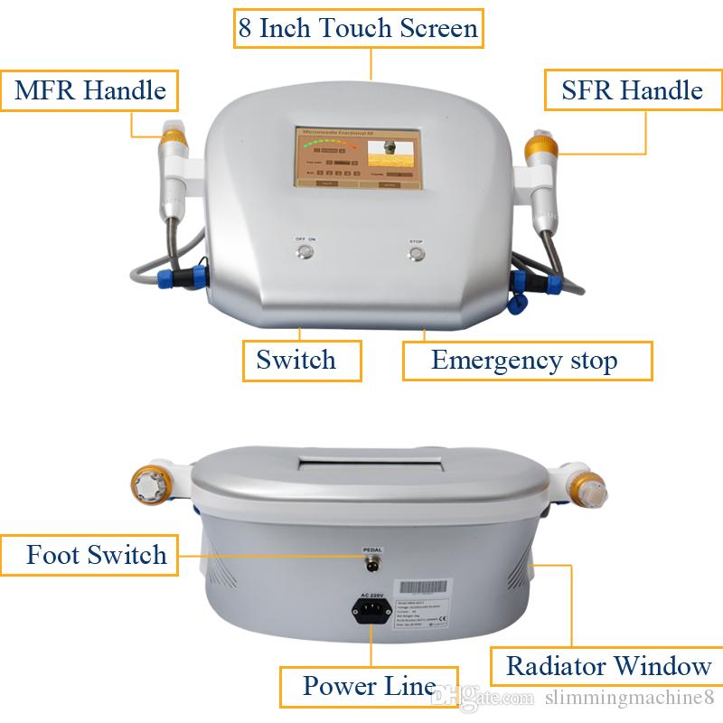 DHL Thermage face machine fractional rf skin rejuvenation Portable thermage Beauty Device Two handles with 4 tips
