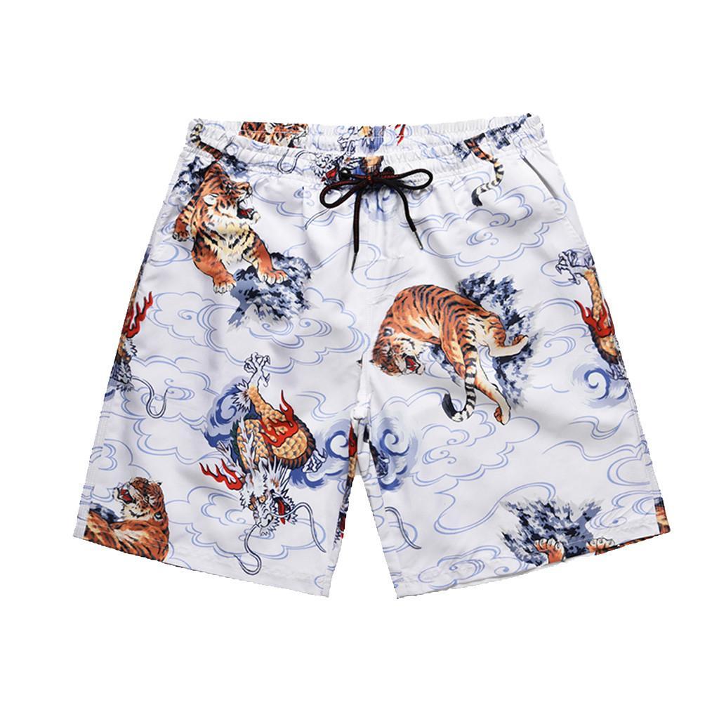 e5abf63371 2019 Feitong 2019 Men Sporting Beaching Shorts Trousers Men'S Fashion Casual  Printing Patchwork Beach Surfing Loose Short Pants From Sheju, $26.64 |  DHgate.