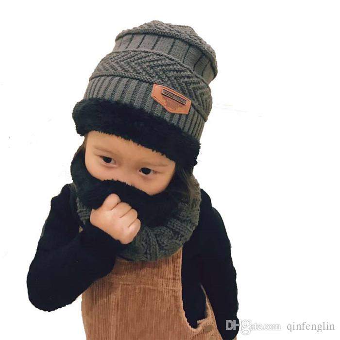Balaclava Face Mask Hats Cashmere Baby Skullies Beanies Dual Use Hats Scarf  Boy Girl Children Wool Knit Hats Winter Thickening Beanie Kids Skull Caps  From ... ce4b037ee3e8