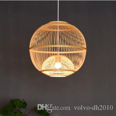 Llfa Nouvelle Étude Style Salle Japonais Chambre Restaurant Créatif D Lustre Salon Simple Lampe De Bambou Chinois TF1JlcK