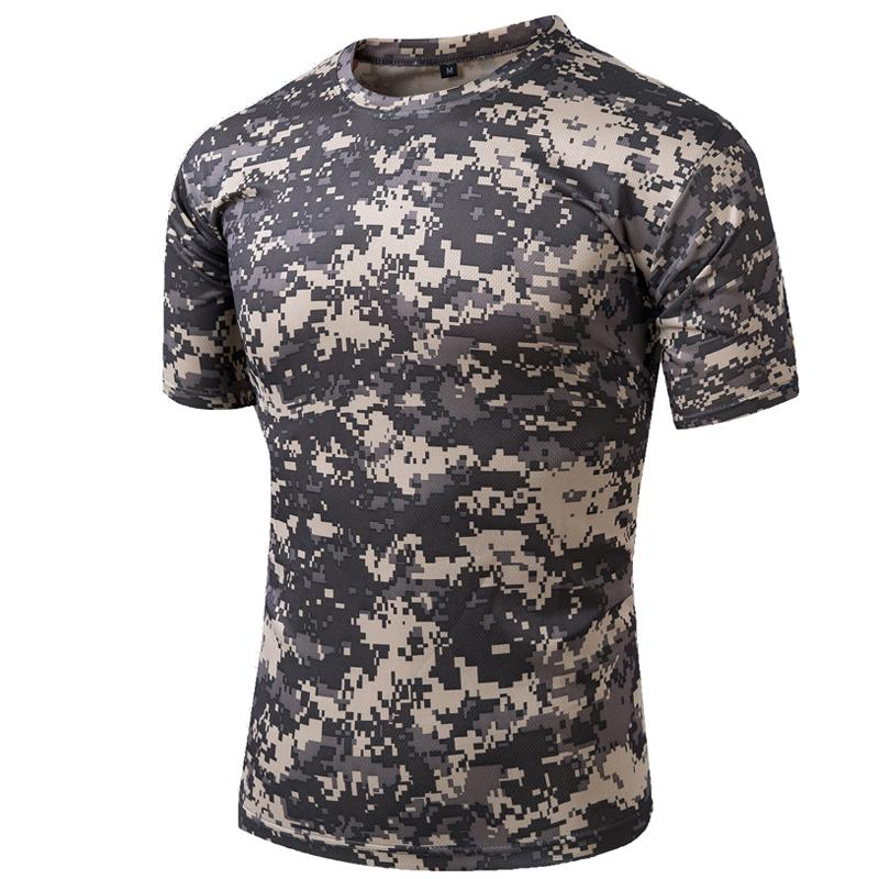5773d6d3 Tactical T Shirt Compress Quick Dry Camouflage Tee Shirts Men Clothes Military  Army Hunter Combat Camo Short Sleeved T Shirts Awesome Funny Printed Shirts  ...