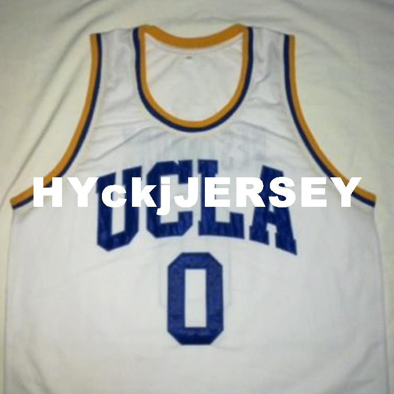 official photos 4eafe 102ee Cheap custom RUSSELL WESTBROOK UCLA Bruins White Basketball Jersey  Embroidery Stitched Customize any size and name NCAA