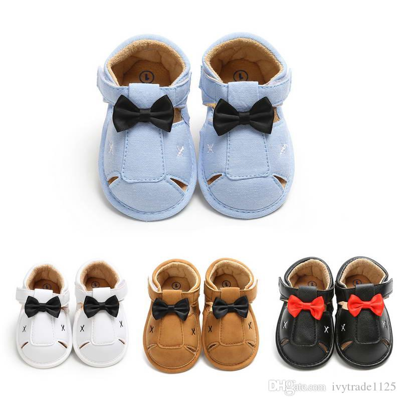 4 colors baby boy first walkers infant shoes toddler boutique Gentleman Style anti-skidding boy shoes summer boy sandal