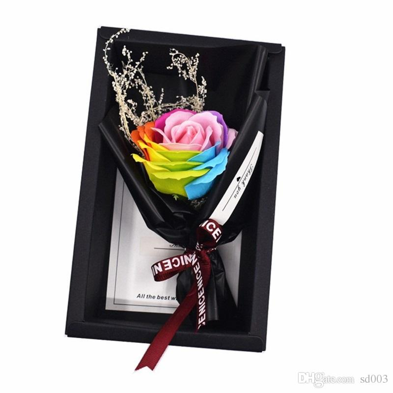 Classical Christmas Gift Artificial Rose Craft For Valentine Girlfriend Delicate Color Soap Flower New Arrival 8 8xc Ww