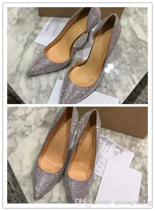 Fashion Women Shoes Silver Glitter Iriza Pump Point Toe Stilettos Wedding  Party High Heel Dress Shoes With Original Box Best Shoes Stacy Adams Shoes  From ... eadb4403aa0b