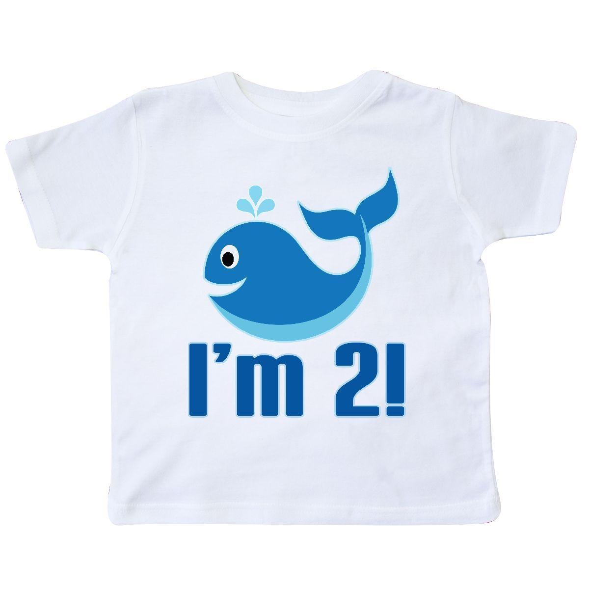 Inktastic 2 Year Old 2nd Birthday Whale Toddler T Shirt Two Im Boys Cute Beach Cartoon Men Unisex New Fashion Fun Tee Daily Shirts From