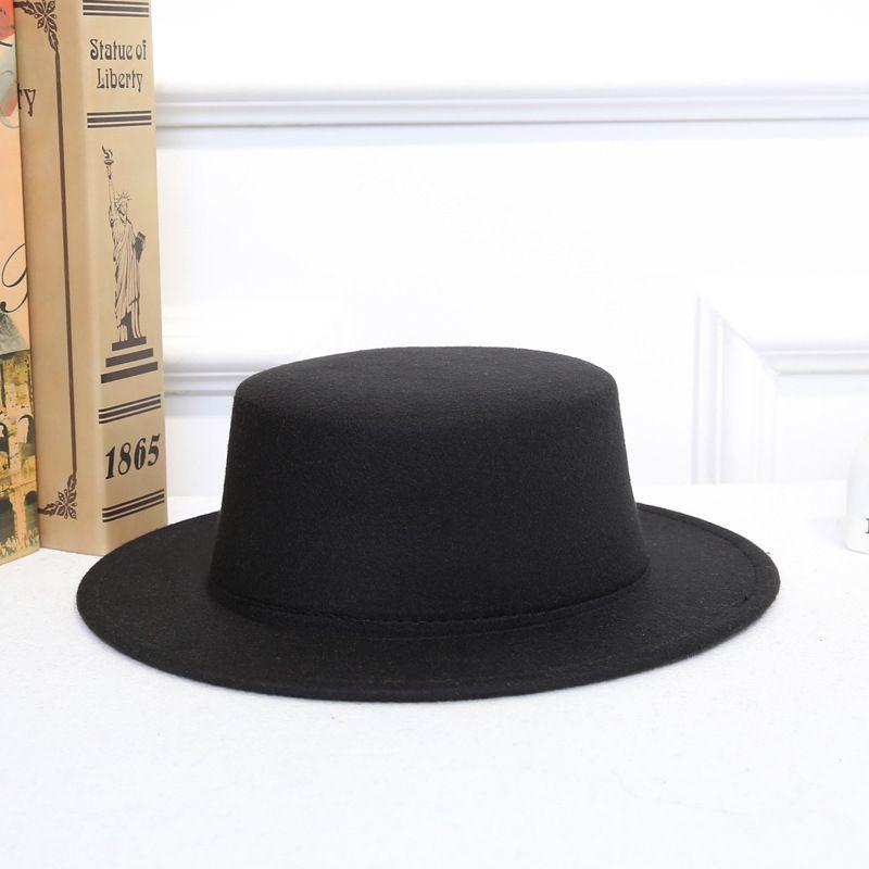 d6e9707a Women Fall Winter Vintage Classic Retro Jazz Ladies Warm Female Fashion  Fedoras Bucket Cotton Felt Caps Flat Top Hat D19011103 Tea Party Hats Rain  Hat From ...