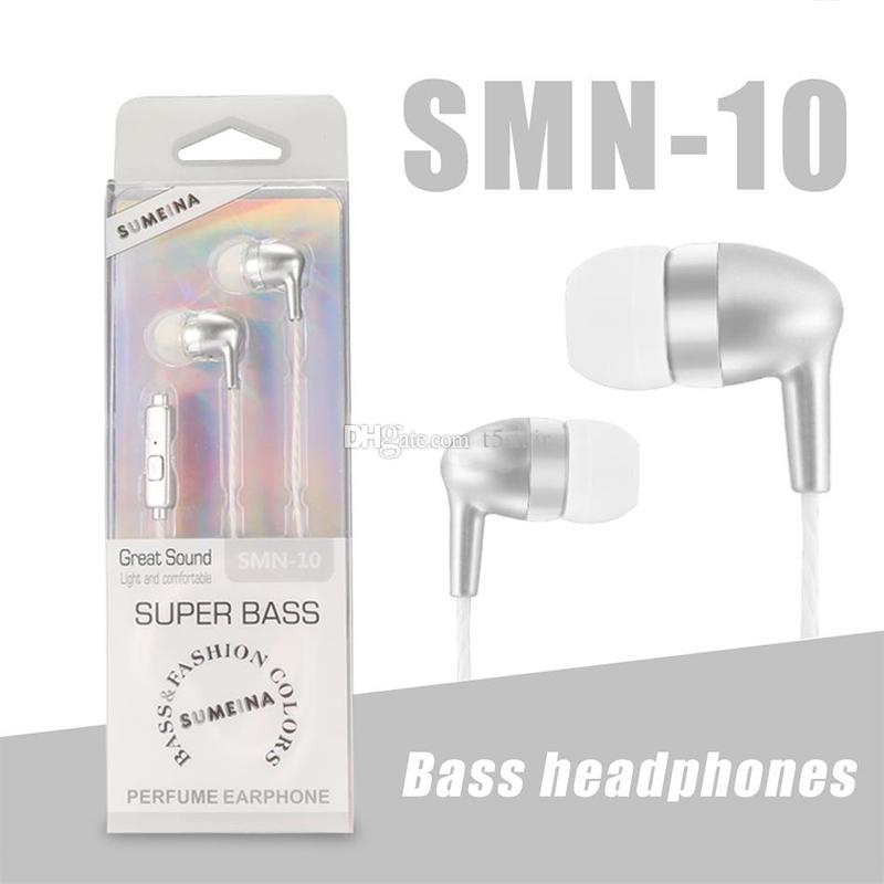 3.5MM Earphone Headsets with Mic Super Bass Earbuds Wired Sport Headphone for android smartphones with Retail Box