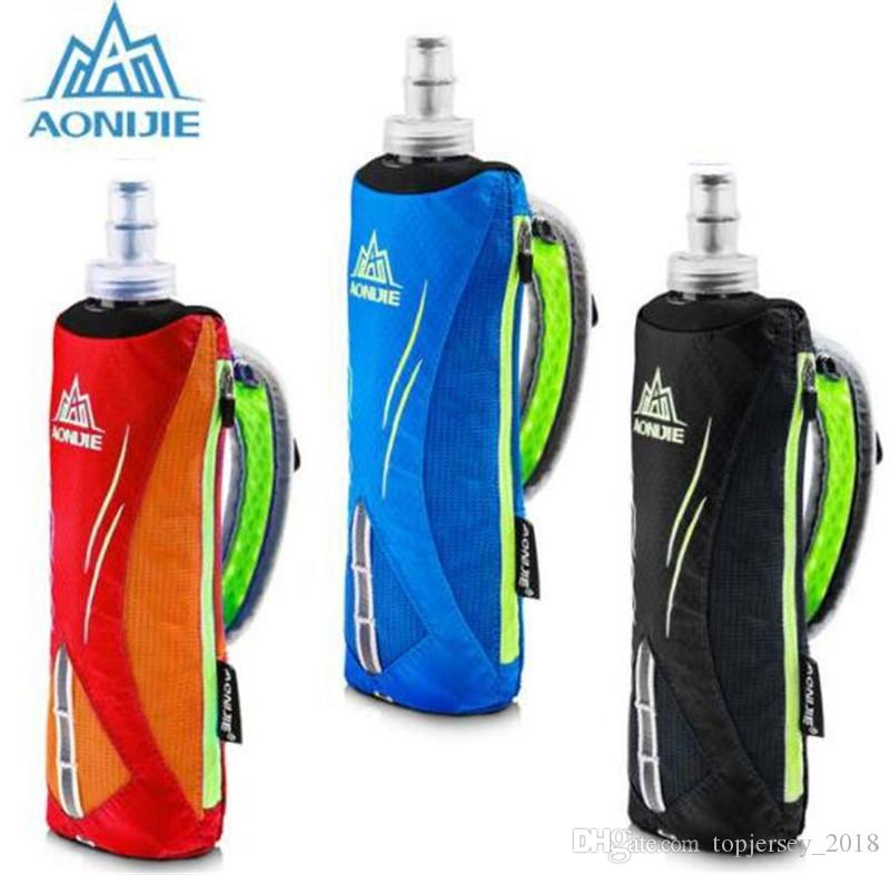 AONIJIE Men Women Nylon Marathon Kettle Pack Outdoor Sports Bag Hiking Cycling Running Hand Hold Kettle Bag With Water Bottles #171325